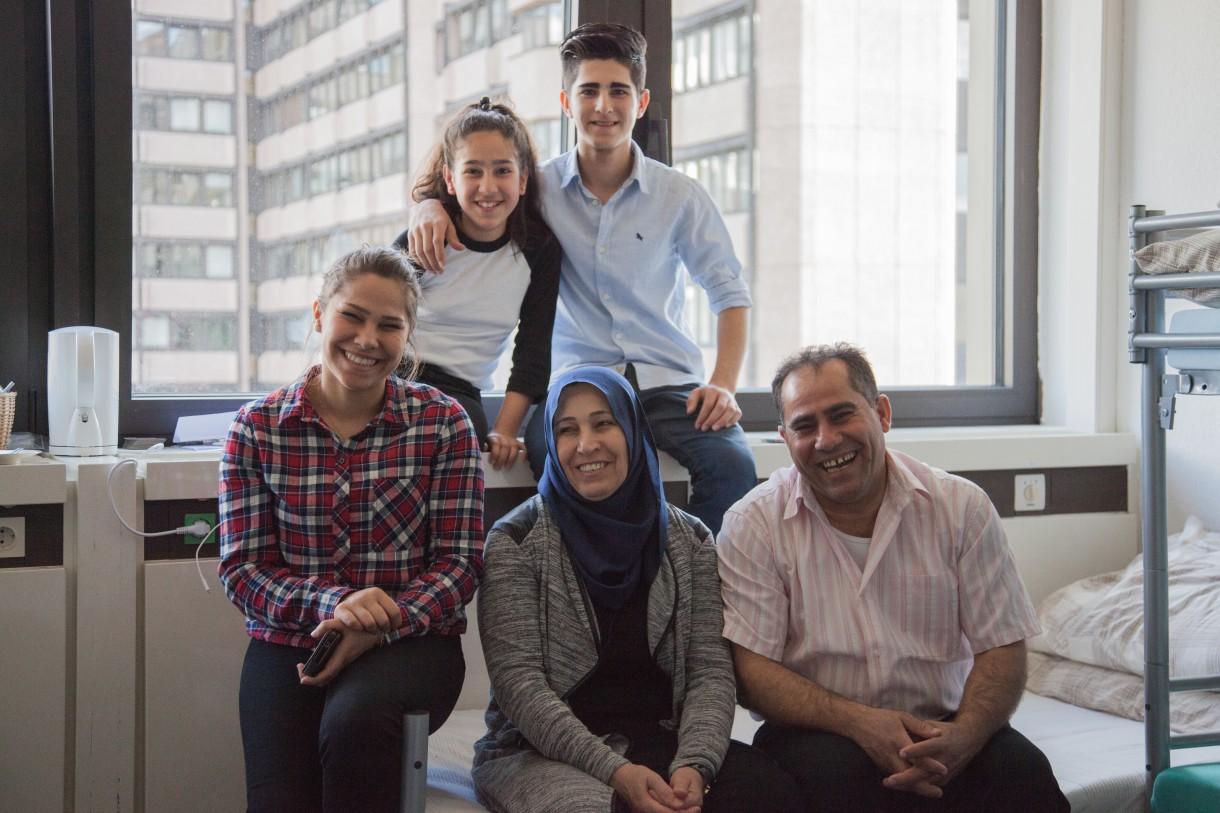 Syrische Familie Ibrahim in Flüchtlingsunterkunft
